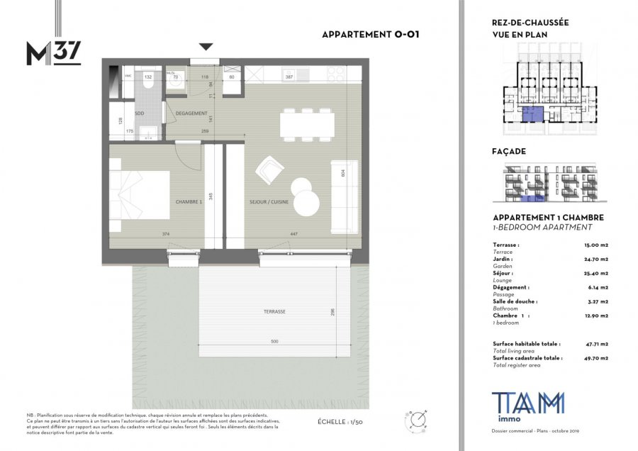 acheter appartement 1 chambre 49.7 m² luxembourg photo 2