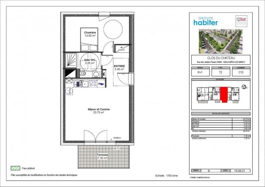 acheter appartement 3 pièces 48 m² saulxures-lès-nancy photo 1