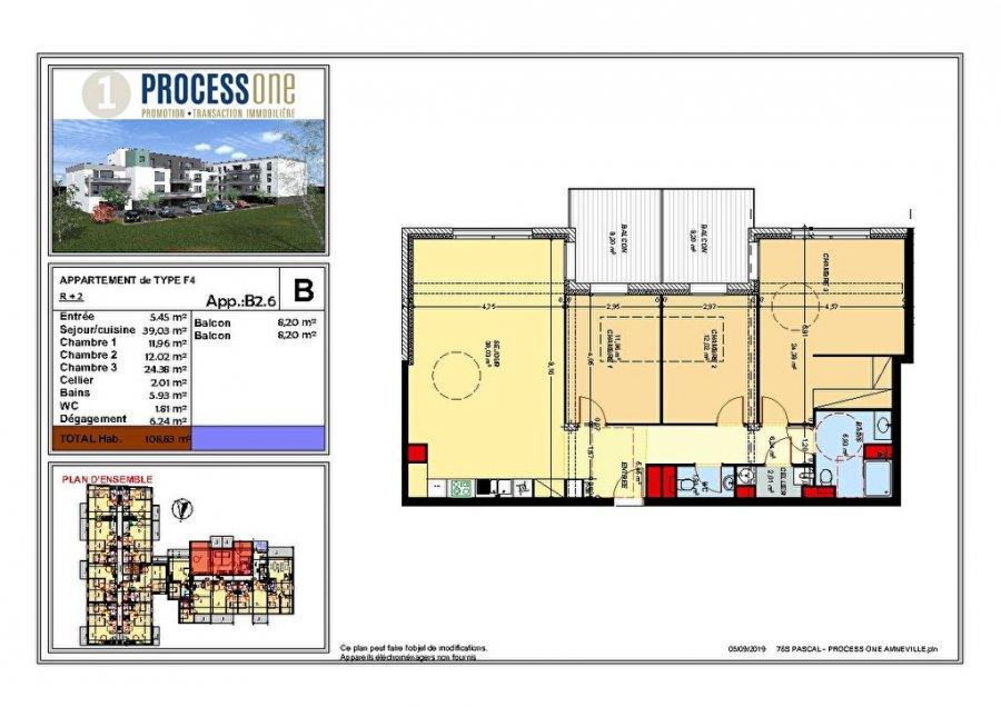 acheter appartement 5 pièces 108.77 m² amnéville photo 1