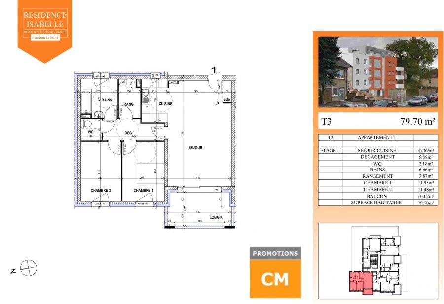 acheter appartement 0 pièce 79.79 m² audun-le-tiche photo 1