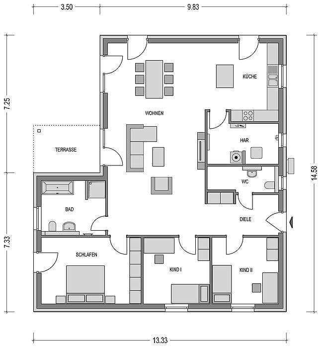 bungalow kaufen 4 zimmer 142.5 m² kyllburg foto 2
