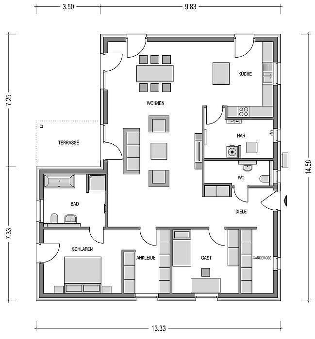 bungalow kaufen 4 zimmer 142.5 m² kyllburg foto 3