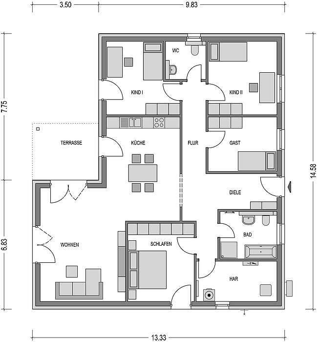 bungalow kaufen 4 zimmer 142.5 m² kyllburg foto 5