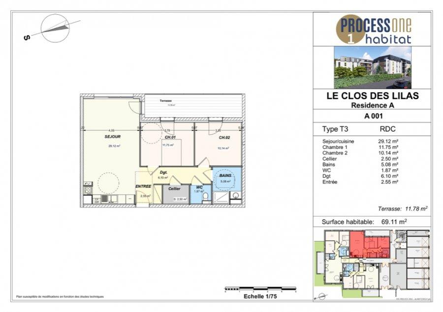 acheter appartement 3 pièces 69.11 m² aumetz photo 1
