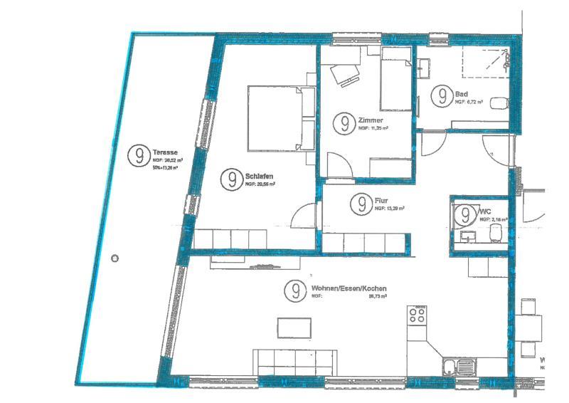 acheter appartement 3 pièces 104.58 m² trier photo 3