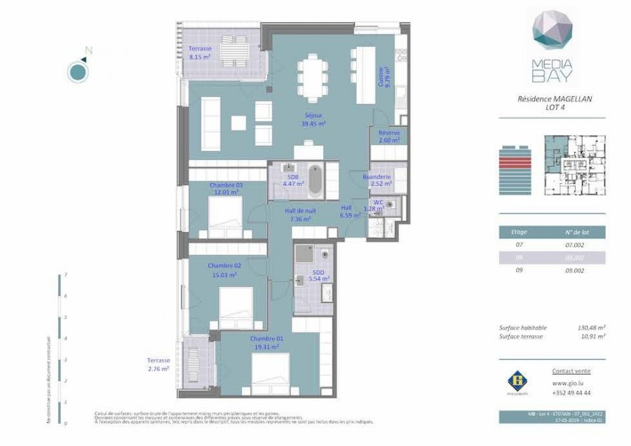 acheter appartement 3 chambres 130.48 m² luxembourg photo 4