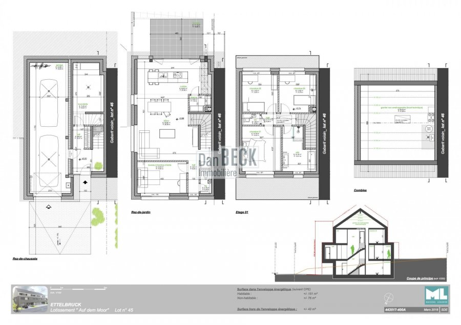 acheter maison individuelle 3 chambres 151 m² ettelbruck photo 3