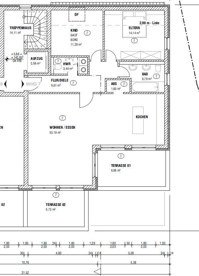 wohnung kaufen 3 zimmer 112.63 m² schweich foto 2
