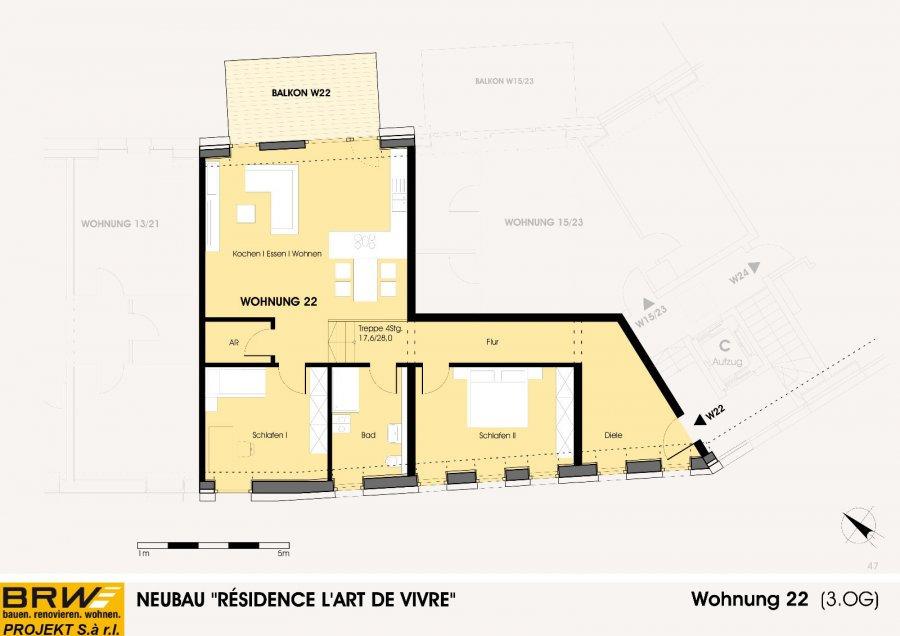 acheter penthouse 2 chambres 114.94 m² echternach photo 3