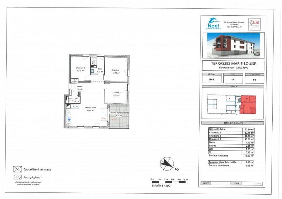 acheter appartement 4 pièces 76 m² yutz photo 1