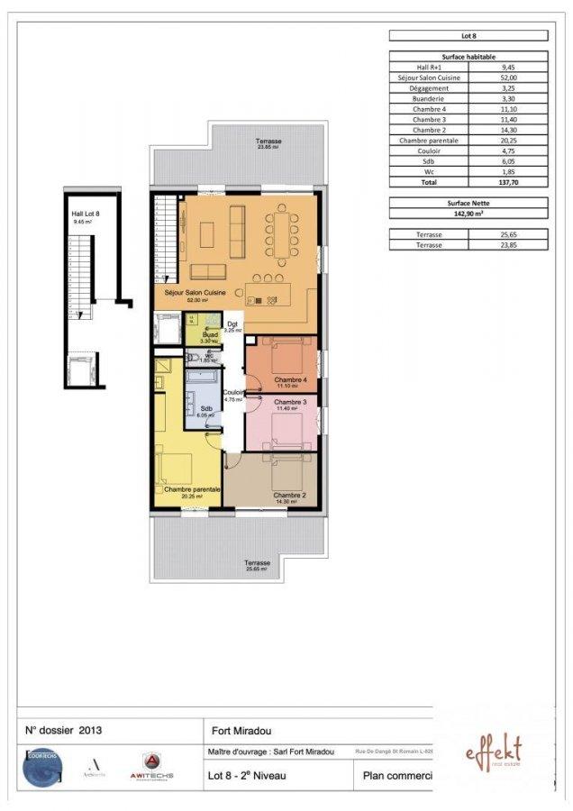 acheter penthouse 4 chambres 138 m² mamer photo 7