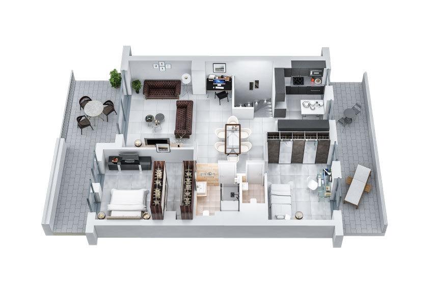 acheter penthouse 3 chambres 125.91 m² colmar-berg photo 3