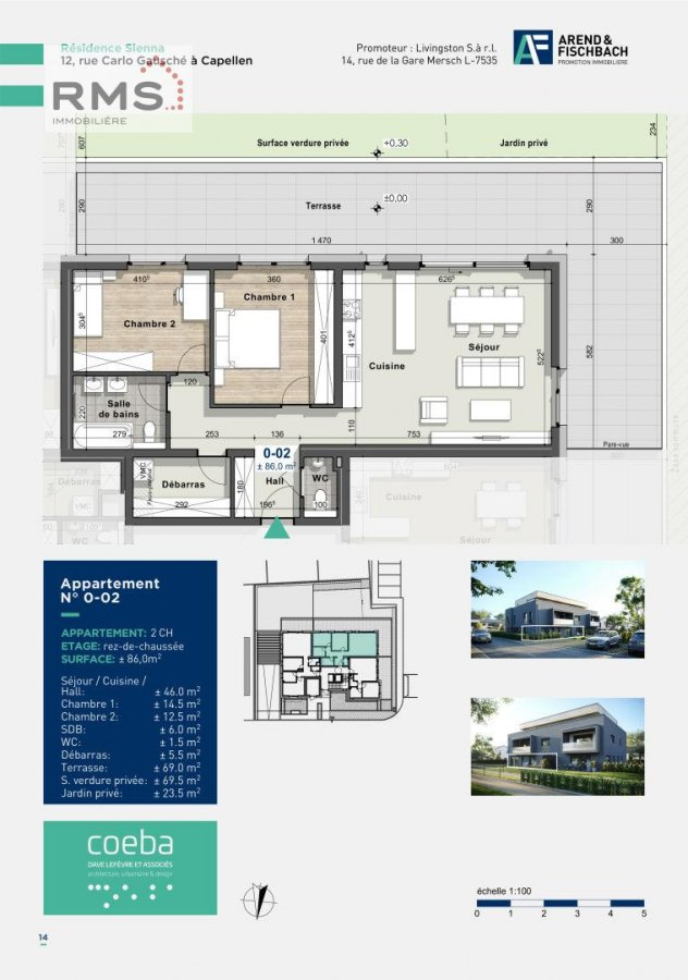 acheter appartement 2 chambres 86.06 m² capellen photo 2