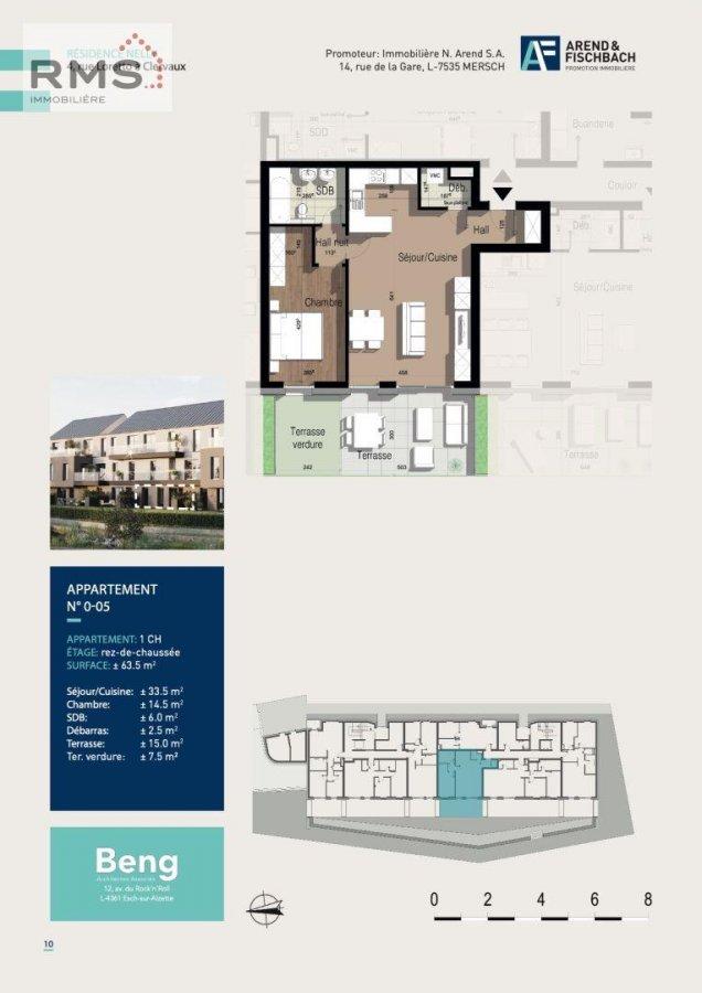 acheter appartement 1 chambre 63.28 m² clervaux photo 2