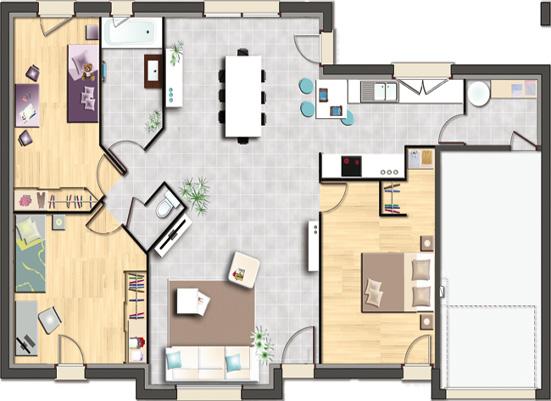 maison individuelle en vente meurchin 80 m 160 134 immoregion. Black Bedroom Furniture Sets. Home Design Ideas