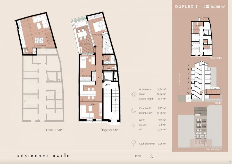 duplex for buy 2 bedrooms 100 m² luxembourg photo 2