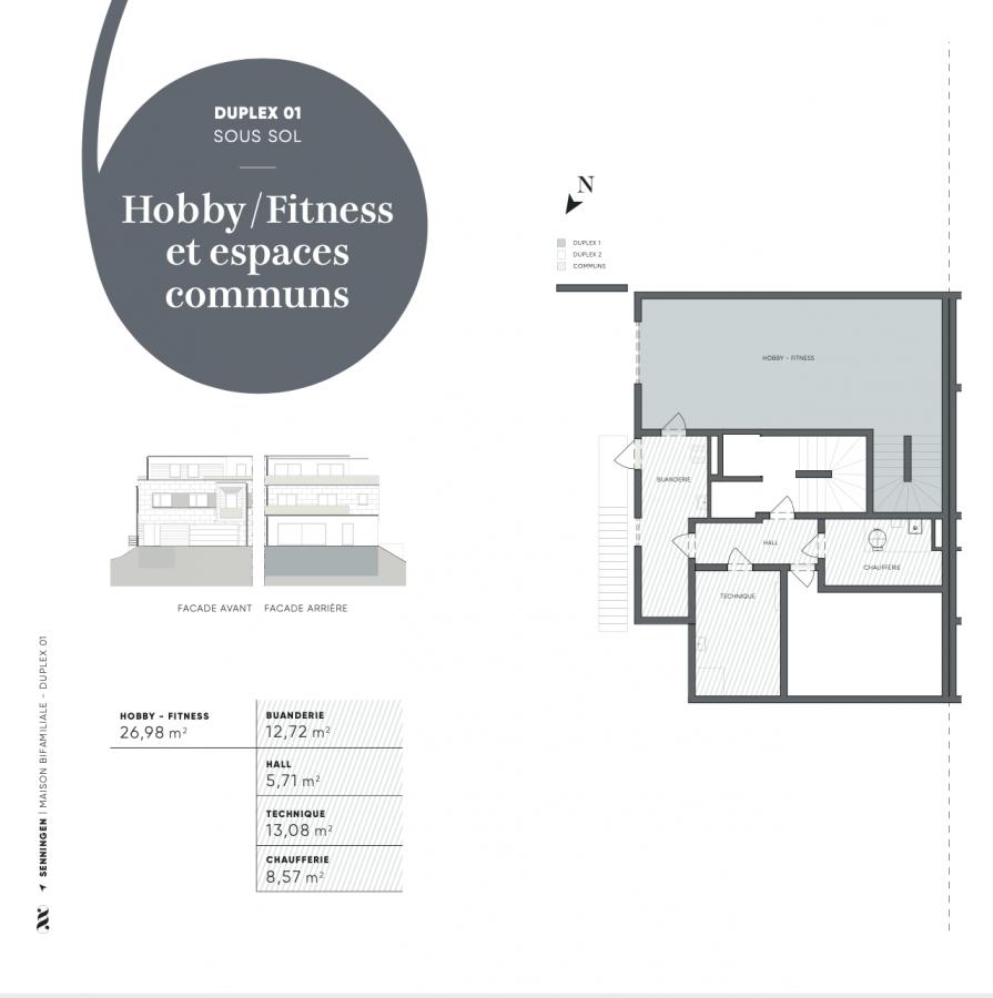 acheter duplex 4 chambres 170 m² senningen photo 3