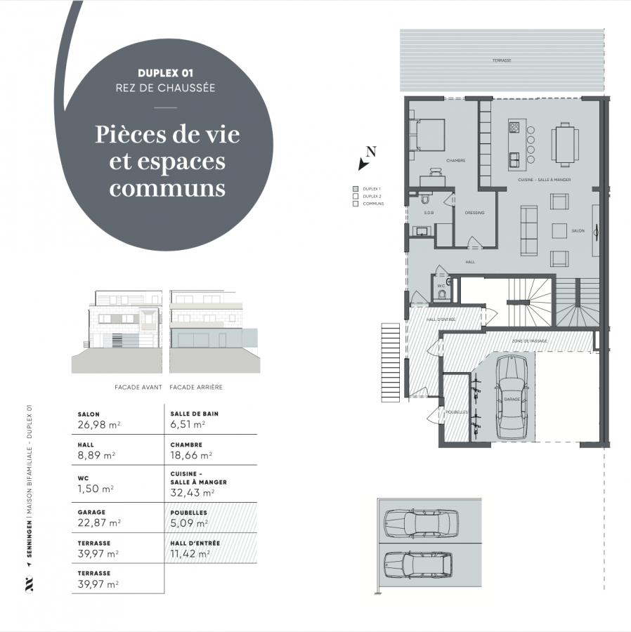 acheter duplex 4 chambres 170 m² senningen photo 4