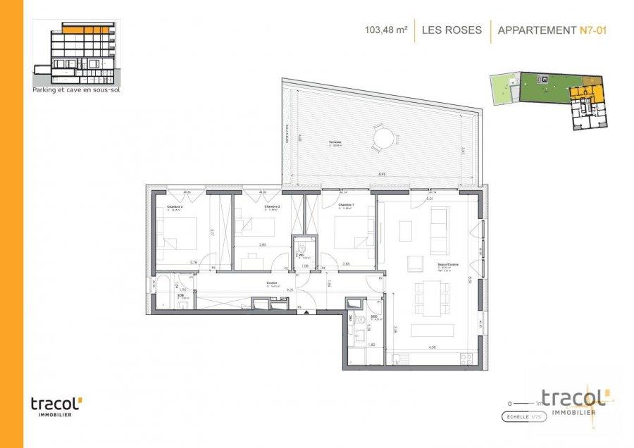 acheter appartement 3 chambres 103.48 m² niederkorn photo 2