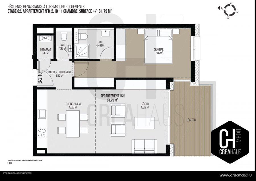 wohnung kaufen 1 schlafzimmer 61.79 m² luxembourg foto 3