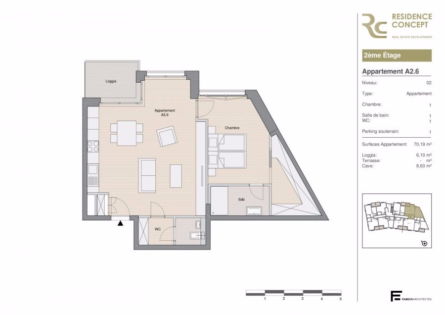 acheter appartement 1 chambre 76.2 m² luxembourg photo 3