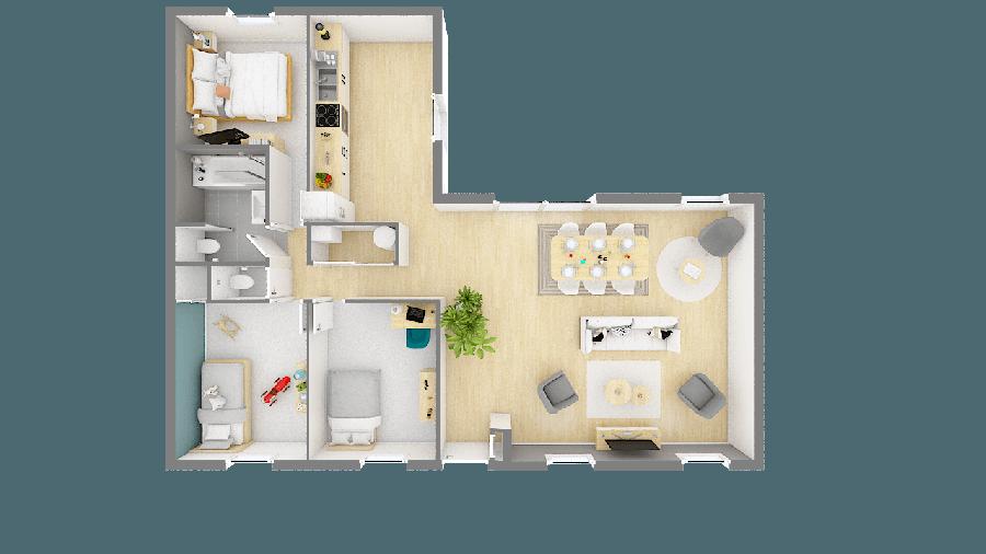 acheter maison 4 pièces 92 m² besné photo 1