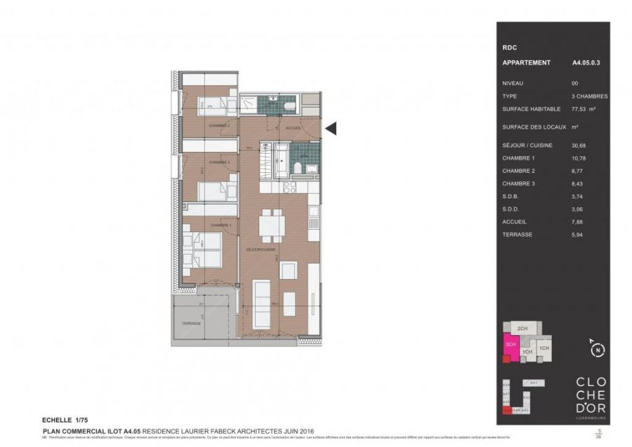 apartment for buy 2 bedrooms 89.58 m² luxembourg photo 4