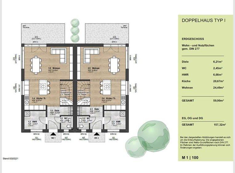 Maison jumelée à vendre 5 Pièces à Berlin (DE) - Réf. 7138179
