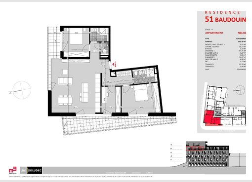 Apartment for sale 2 bedrooms in Luxembourg (LU) - Ref. 6696323