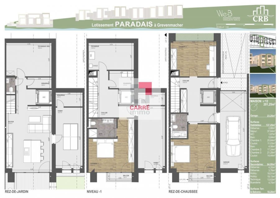 acheter maison jumelée 4 chambres 201.25 m² grevenmacher photo 4