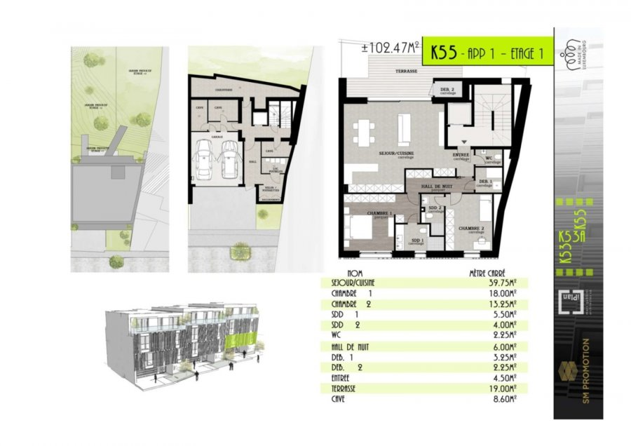 apartment for buy 2 bedrooms 102.47 m² luxembourg photo 1