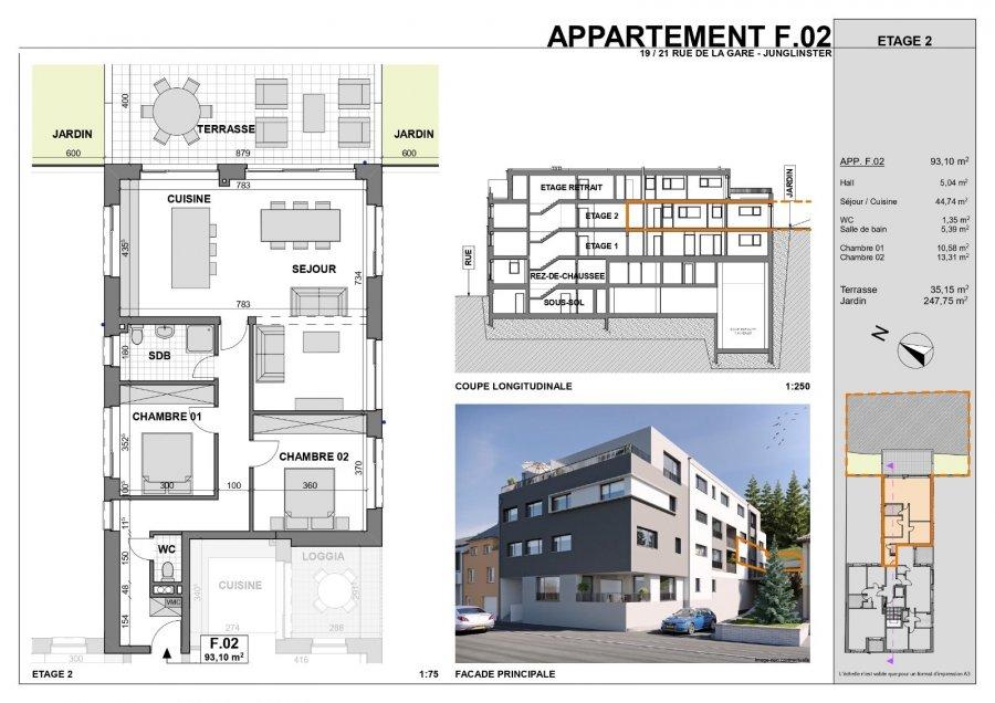 acheter appartement 2 chambres 106.38 m² junglinster photo 6