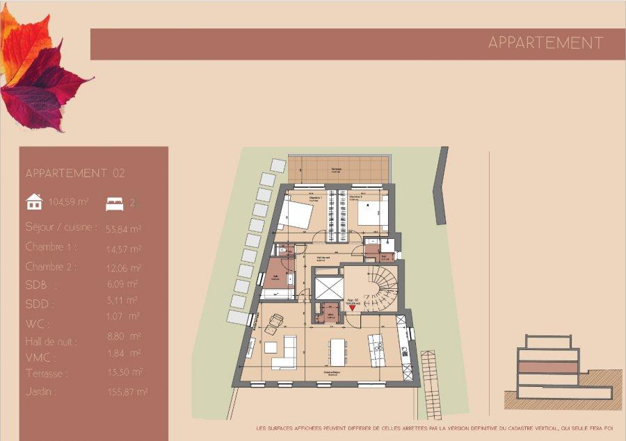 acheter appartement 2 chambres 104.59 m² junglinster photo 3
