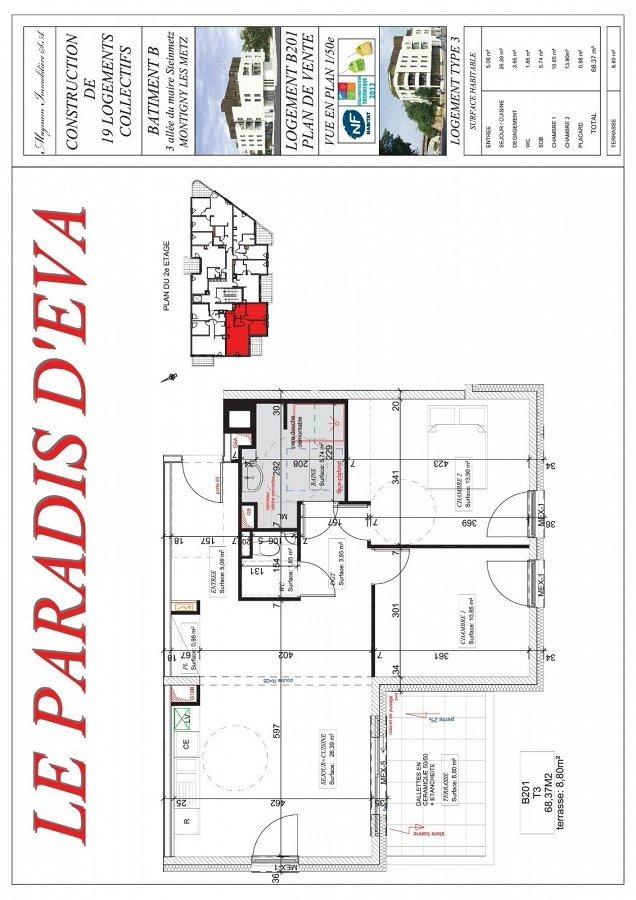 acheter appartement 3 pièces 68.37 m² montigny-lès-metz photo 3