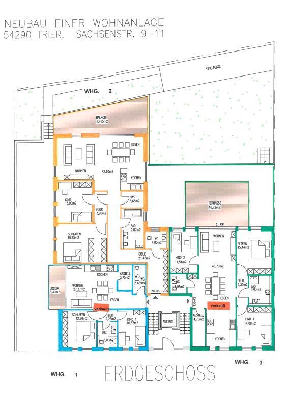 wohnung kaufen 3 zimmer 134.45 m² trier foto 3