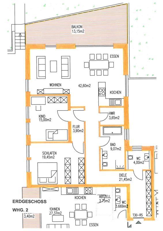 wohnung kaufen 3 zimmer 134.45 m² trier foto 2