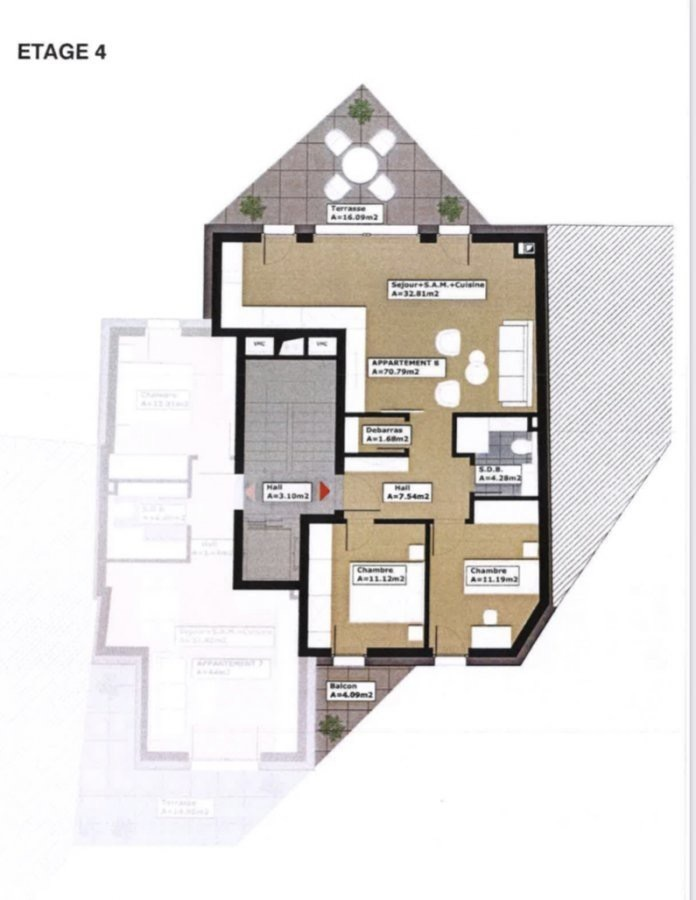 acheter appartement 2 chambres 70.79 m² dudelange photo 2
