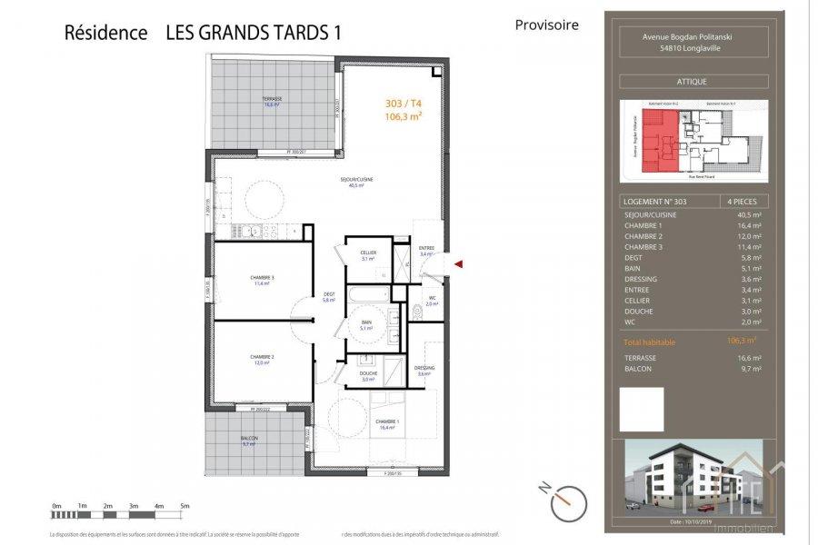 acheter penthouse 0 pièce 106.3 m² longlaville photo 1