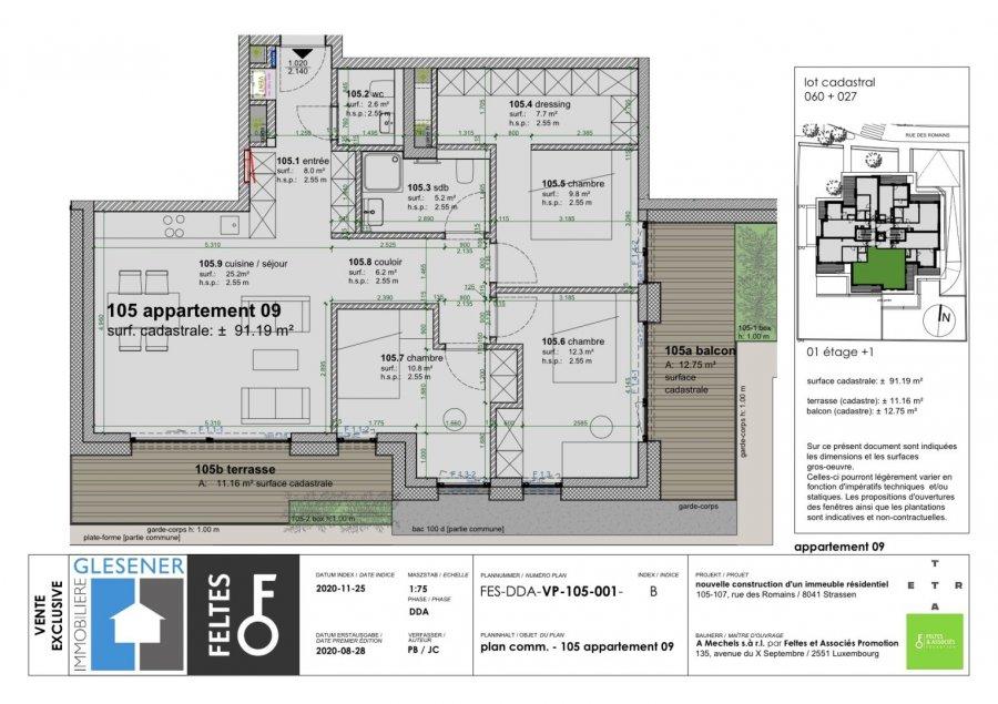 acheter appartement 3 chambres 91.19 m² strassen photo 4