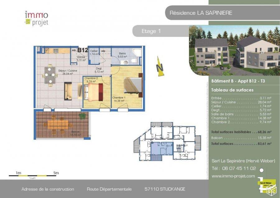 Appartement en vente thionville 72 46 m 218 000 immoregion - Appartement meuble thionville ...