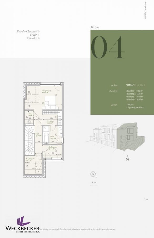 acheter maison jumelée 4 chambres 173.1 m² mondercange photo 2