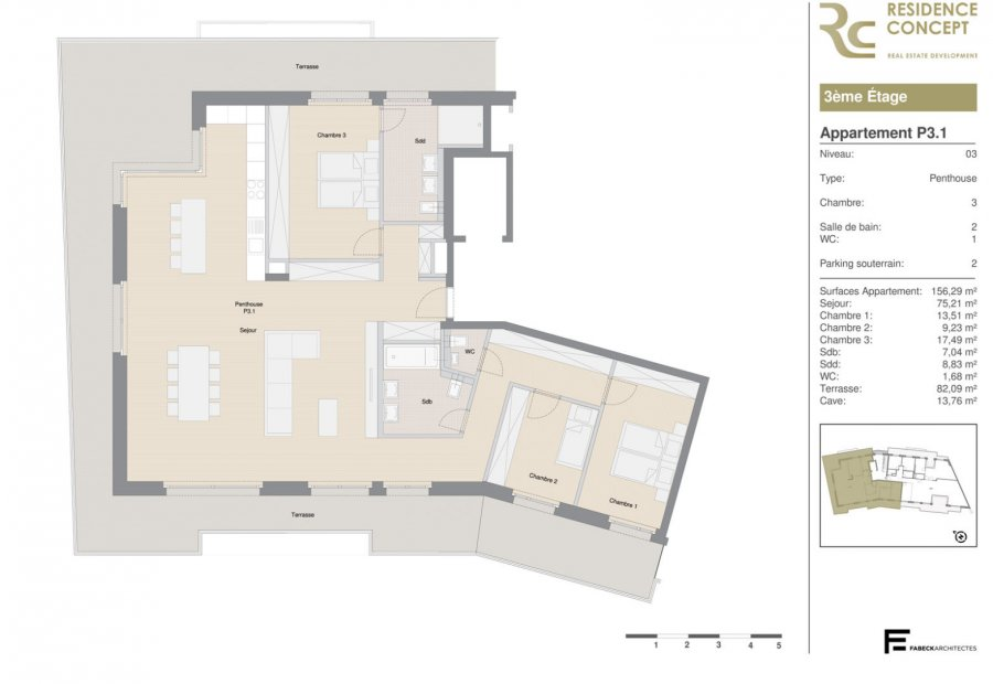 acheter penthouse 3 chambres 156 m² luxembourg photo 5