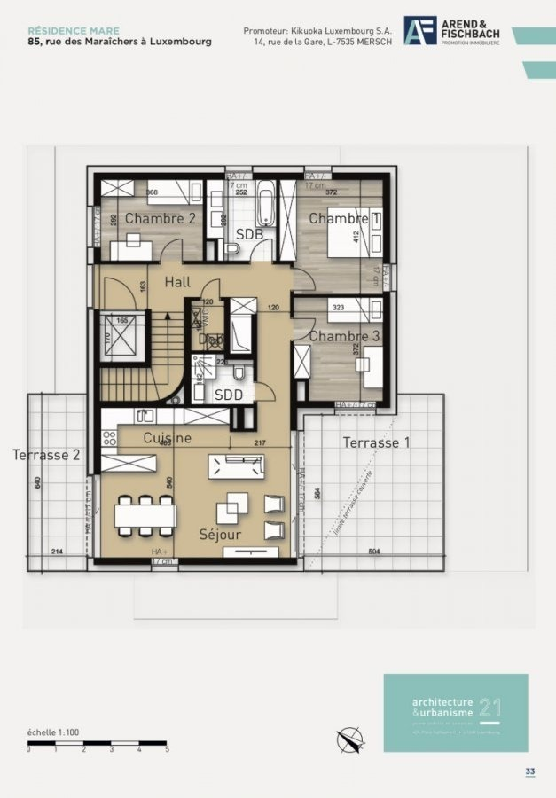 acheter penthouse 3 chambres 108 m² luxembourg photo 3