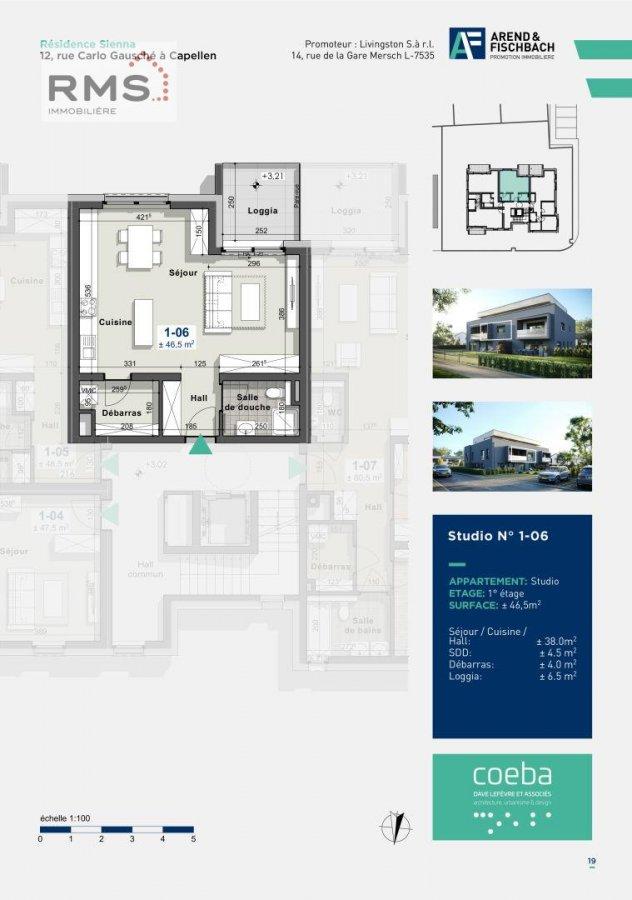 acheter studio 0 chambre 45.58 m² capellen photo 1