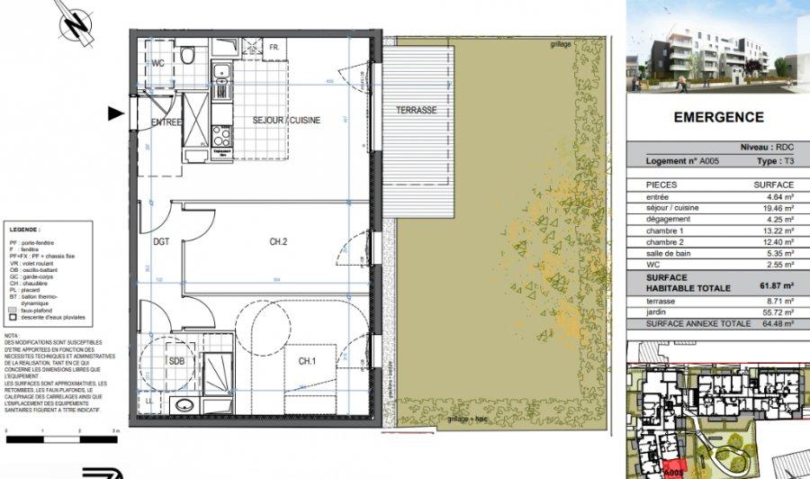 acheter appartement 2 pièces 59 m² saint-max photo 1