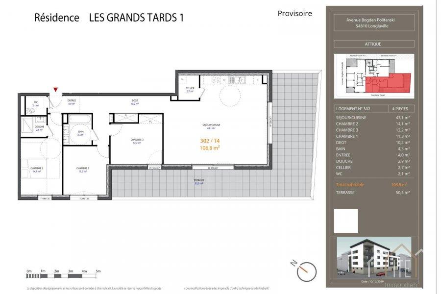 acheter penthouse 0 pièce 106.9 m² longlaville photo 1