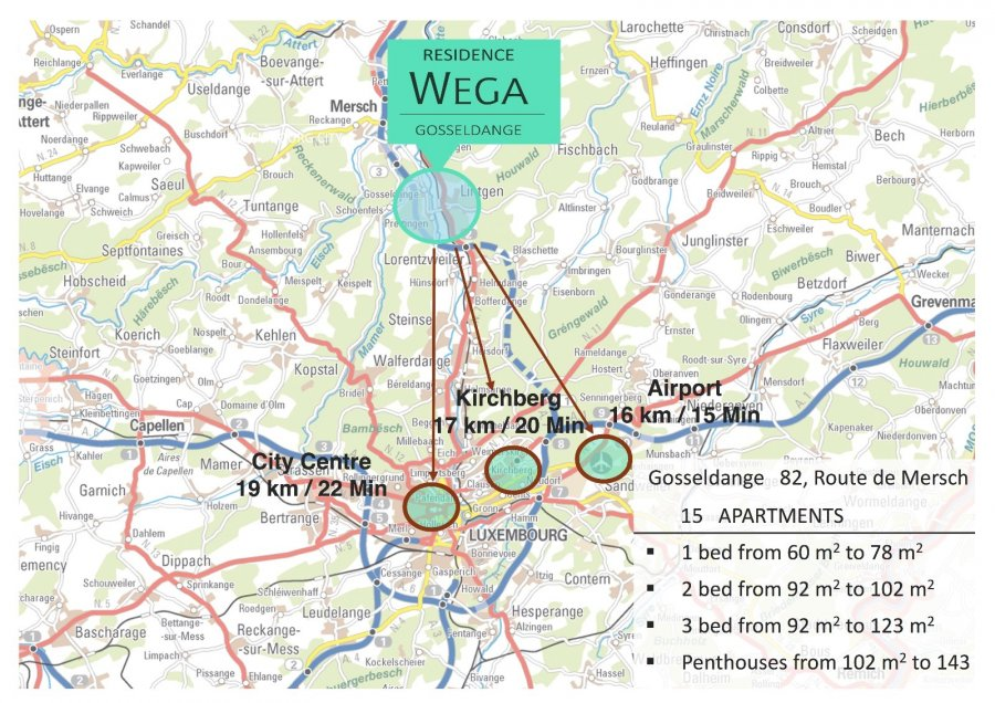 acheter résidence 0 chambre 92.7 à 131.7 m² gosseldange photo 2