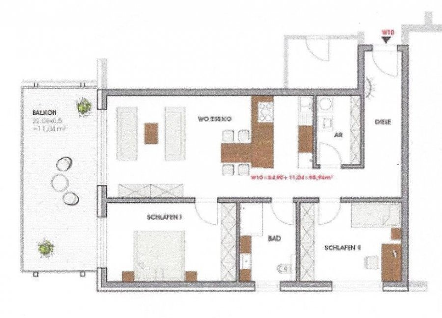 wohnung kaufen 3 zimmer 95.94 m² perl foto 2