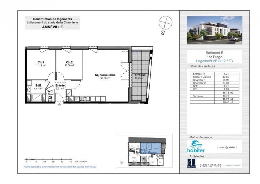 acheter appartement 3 pièces 65 m² amnéville photo 1