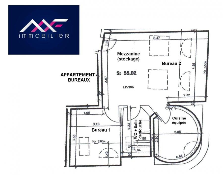 Bureau à louer 1 chambre à Mondorf-les-bains